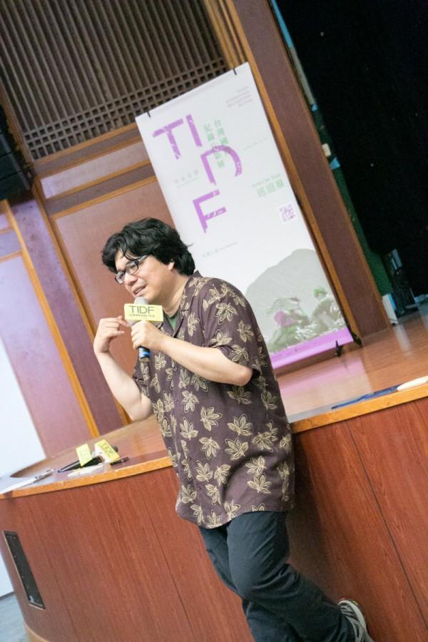 TIDF彰化巡迴《跑道終點》映後分享,講者鄭秉泓Ryan