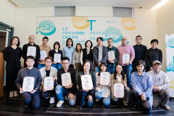 TIDF台灣競賽入圍導演與初選委員合影